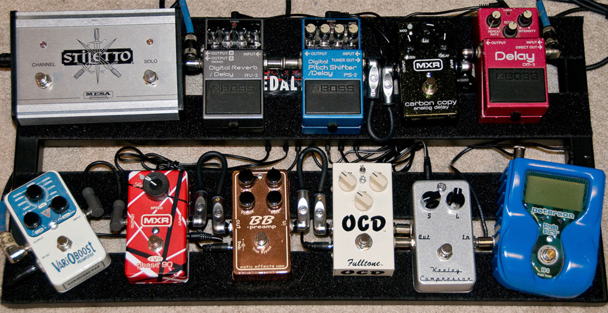 Pedalboard has phaser